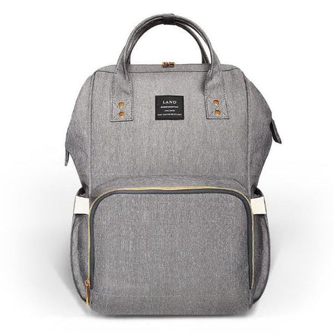 Grey Nappy Bag Backpack
