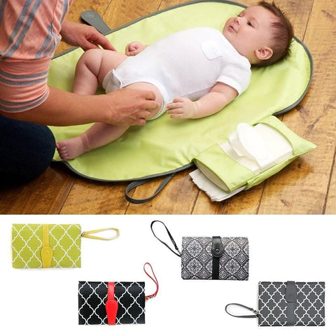 'Quick Change' Folding Waterproof  Baby Change Mat Purse