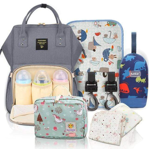 'Super Mommy'  Nappy Bag Backpack & Essentials Bundle