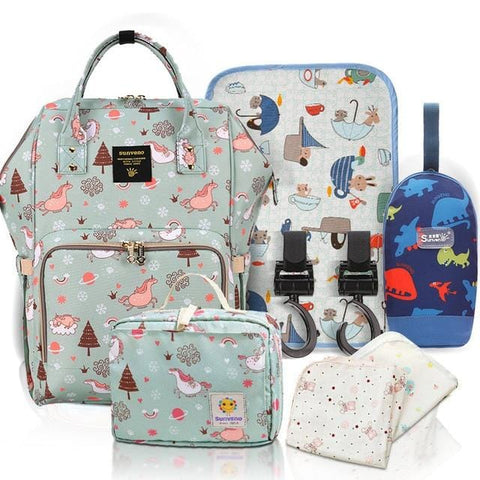 'Super Mommy'  Diaper Bag Backpack & Essentials Bundle