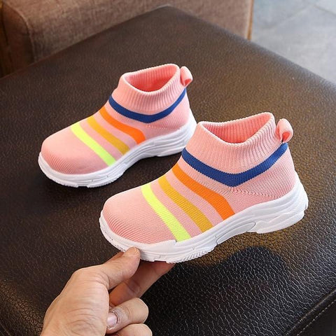 GroovySteps™ First Walkers Non Slip Shoes - New Stripe Design!