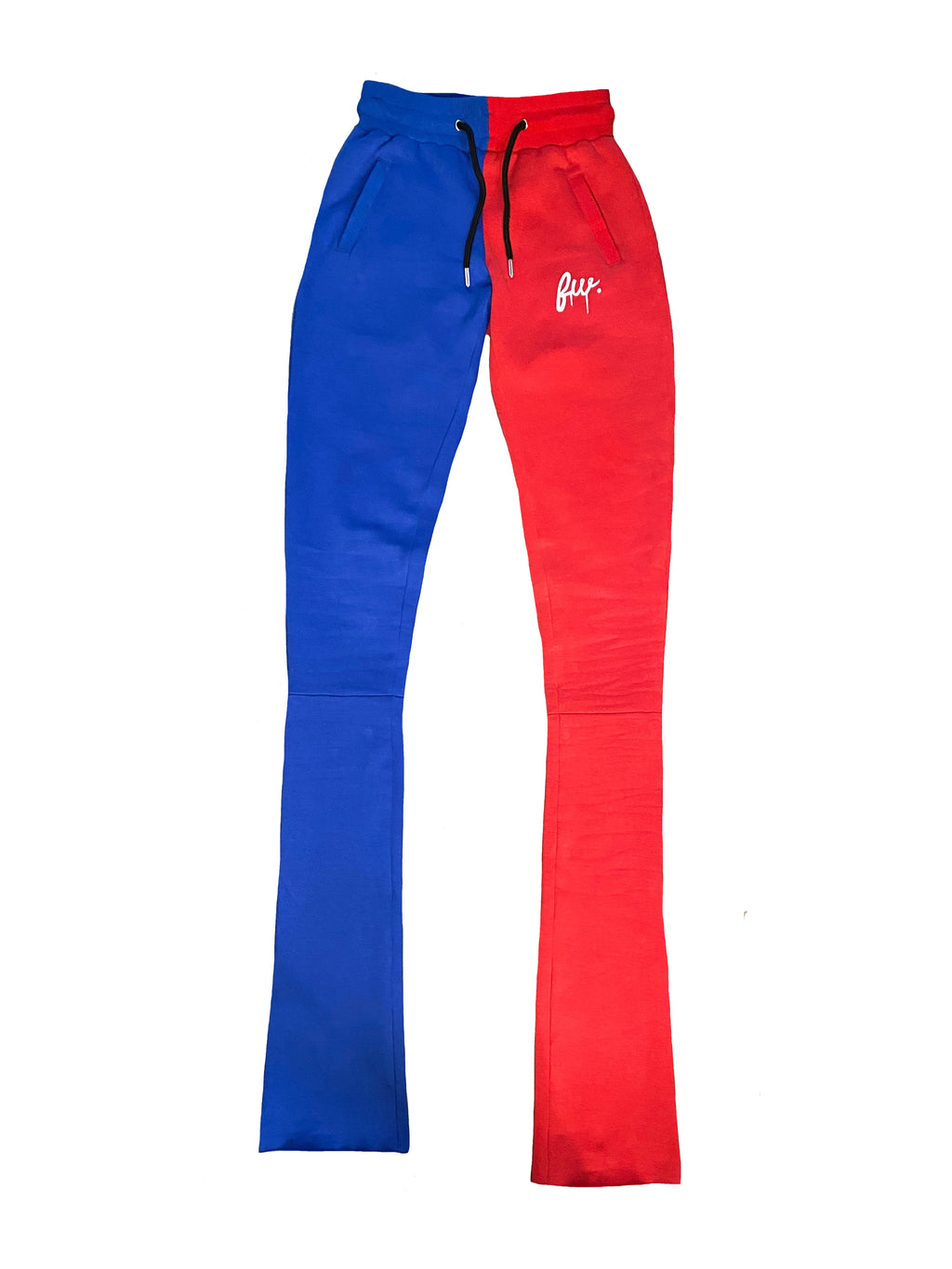 Blue/Red Split Sweatpants