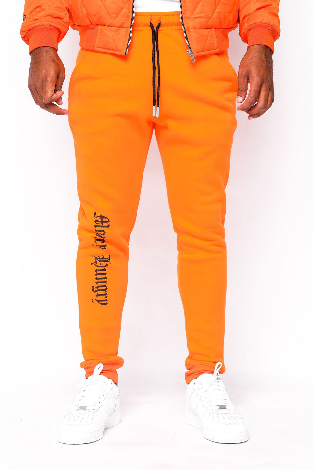 Orange Money Hungry Sweatpants