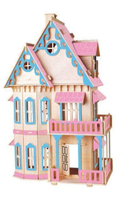 3D DIY Wooden Doll House Model - Wood / China