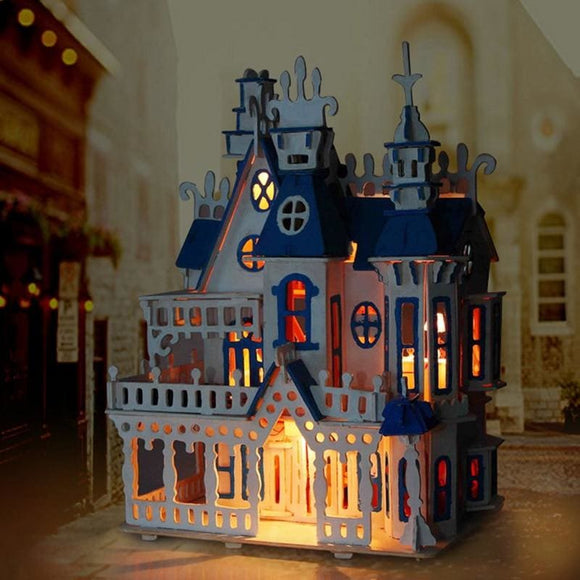 3D Diy Wooden Miniature Princess Castle Doll House