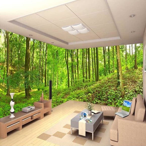 3D Forest Hill Side Wall Mural Wallpaper