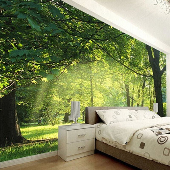 3D Forest Scenery Mural Wallpaper