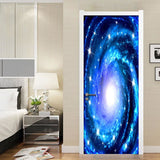 3D Galaxy Door Sky Decal