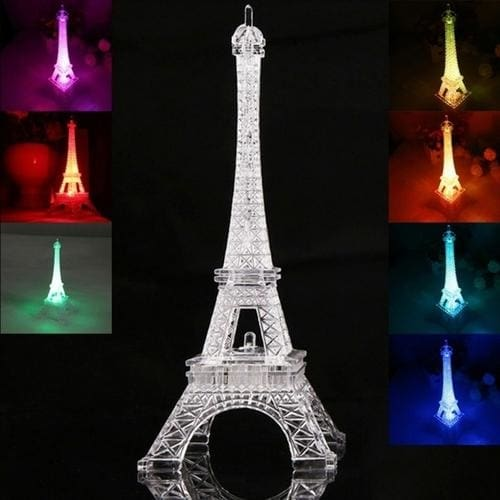 3D Led Romantic France Eiffel Tower - Led Lighting