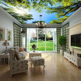 3D Palm Trees Ceiling Mural Wallpaper