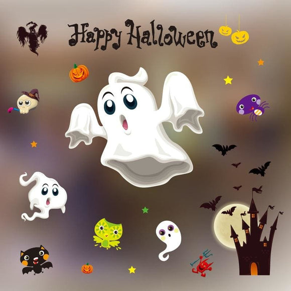 3D PVC Happy Halloween Decals - C