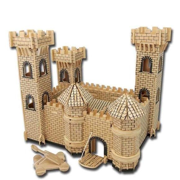 3D Wooden Castle Puzzle Set