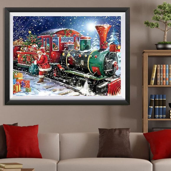 5D DIY The Christmas Train Craft Diamond Mosaic