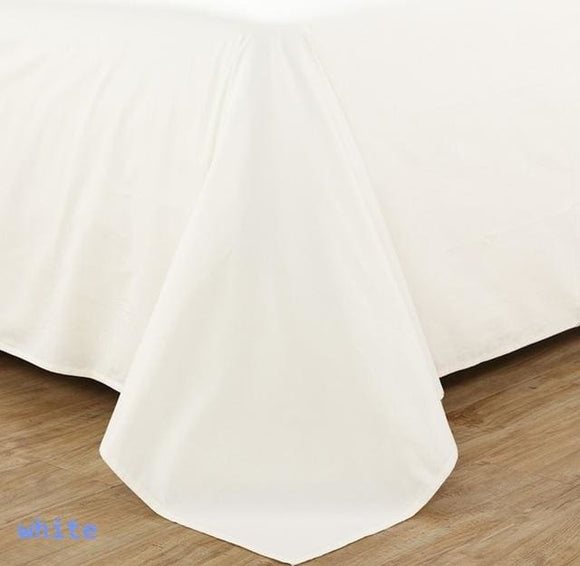 600Tc Bedding Sheet Set - White Color / Full Set