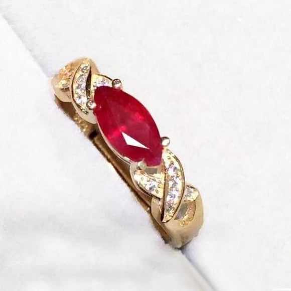 925 Sterling Silver Ruby 0.81Ct Ring