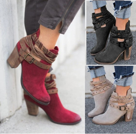 Women Buckle Ankle Boot