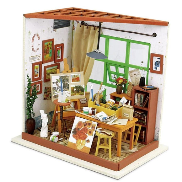 Adas Studio 3D DIY Miniature Doll House Comes with LED and Furniture