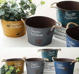 American Old Retro Metal Flower Pot