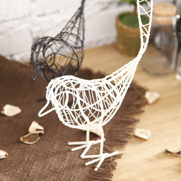 American Style Wrought Iron Bird - Black