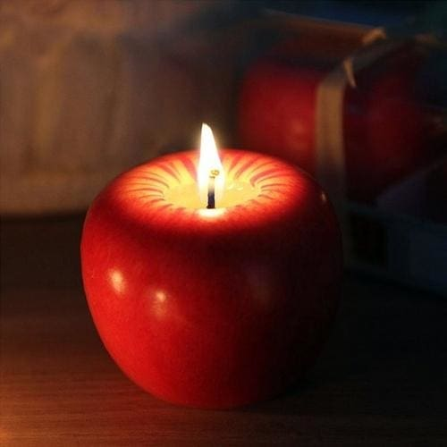 Apple Candle - L - Home & Garden