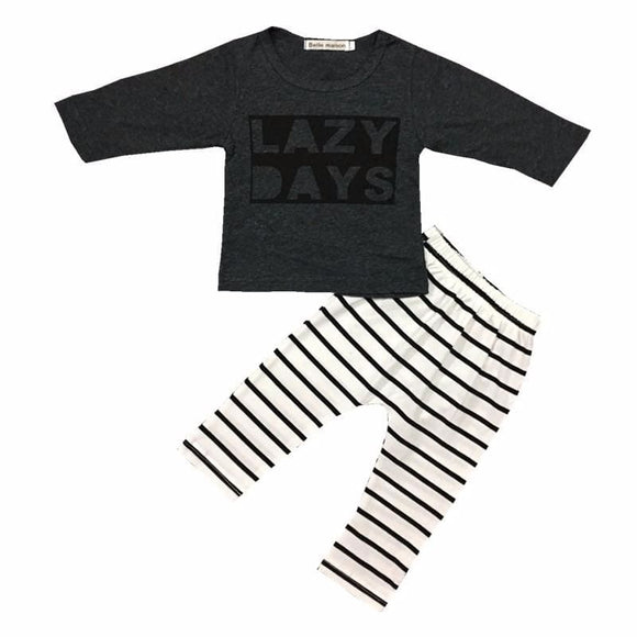 Baby Long Sleeve Lazy Days Outfit - 2 Piece