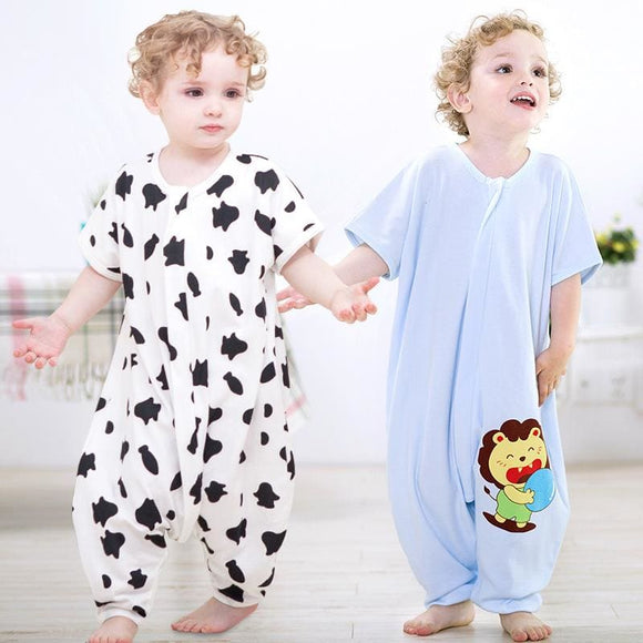 Baby Short Sleeves Cotton Pajamas