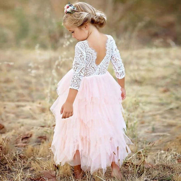 Backless Unicorn Princess Dress - Pink / 4T