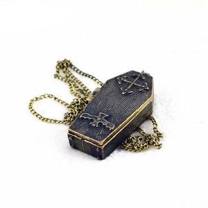 Bat and Coffin Chain Necklace