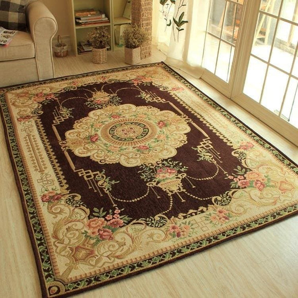 Beautiful Oriental Style Basket Parlor Rug
