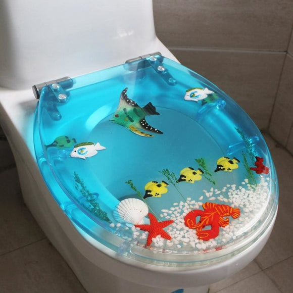 Beautiful Sea World Design Universal Toilet Seat Cover Set - Modern Market Online