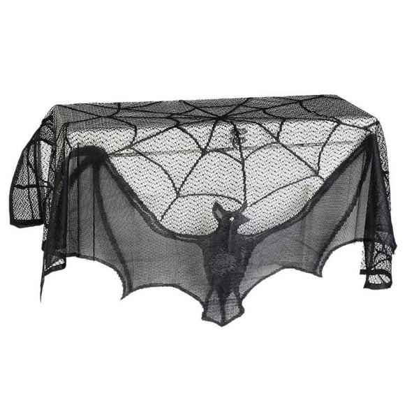 Black Bat Web Table and Mantel Cover