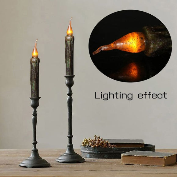Black Flameless and Flickering LED Candle x 6 Pieces