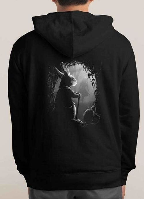 Black Never Too Late Hoodie - Large - Hoodies