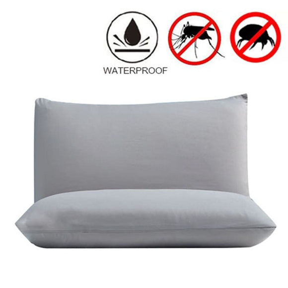 Breathable Waterproof Protector Pillowcases x 2 - Black