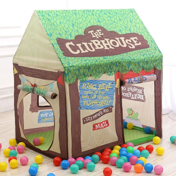 Cartoon Children Play House Tent - China / Tree House