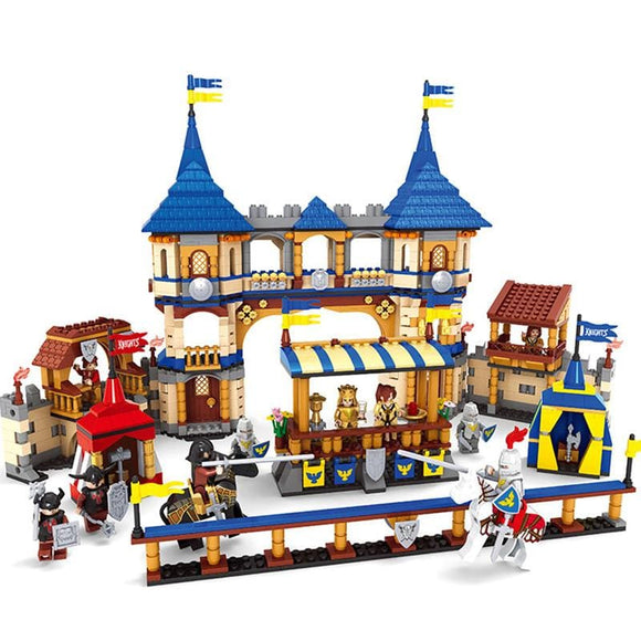 Castle and Knights Joust Building Blocks Set