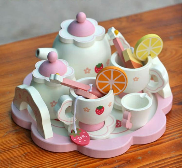 Childrens Wooden Garden Tea Set