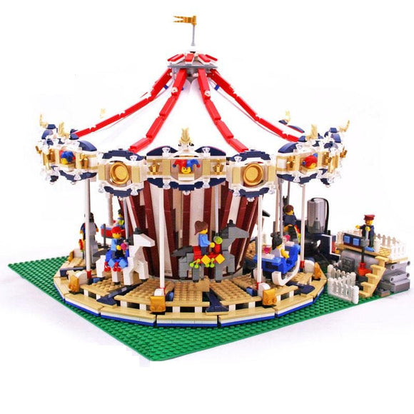 City Street Carousel Building Blocks Set