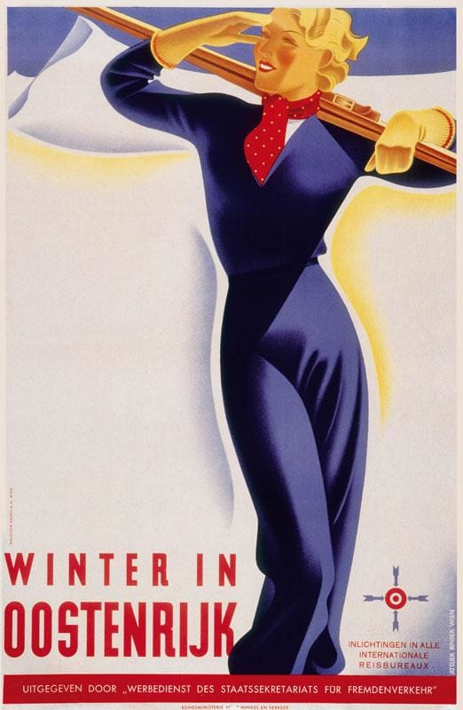 Classic Austria Snow Travel Poster Wall Sticker