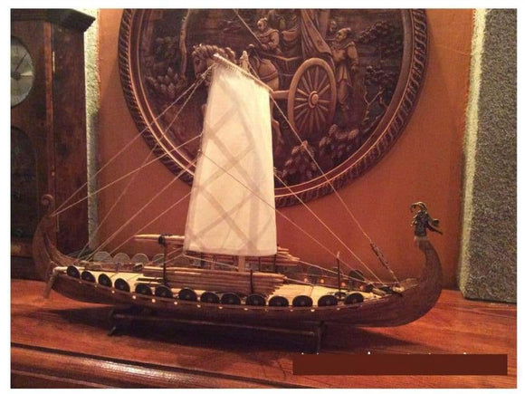 Classic Viking Wooden 1:50 Scale Sailing Boat Kit