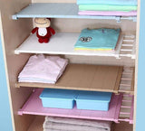 Closet Adjustable Organizer Storage Shelf
