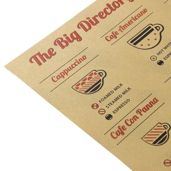 Coffee Flavor Instruction Paper Diagram