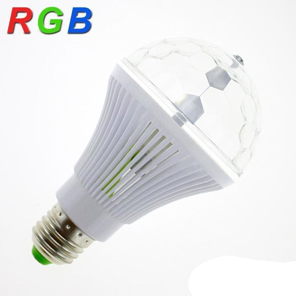 Colorful Auto Rotating Disco Magic Light Bulb