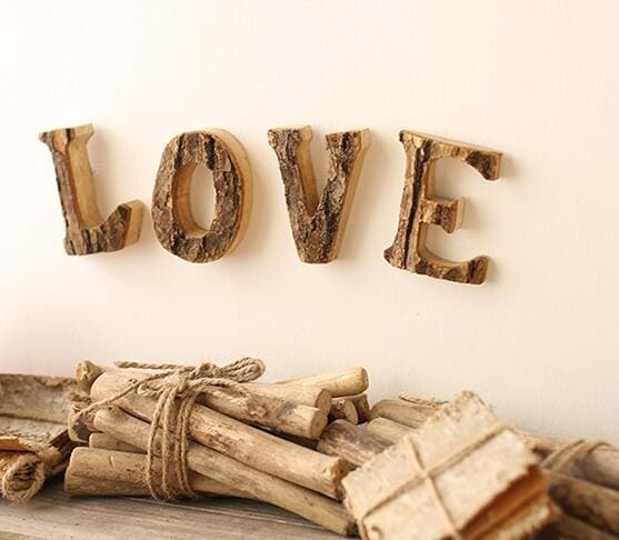 Creative Distressed Wood Letter Decor
