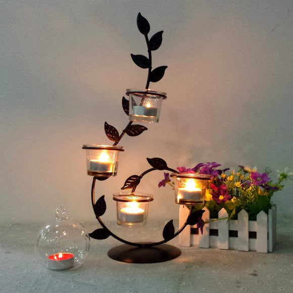 Curling Vine 4 Tealight Candle Holder