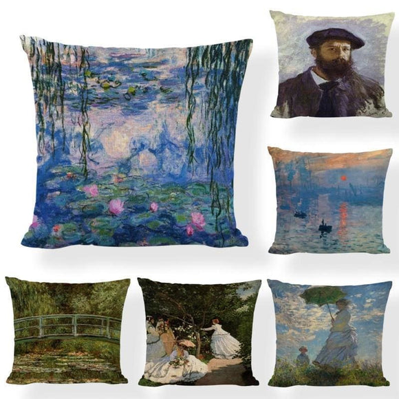 Cushion Monet Print Cover - 45x45cm / 1