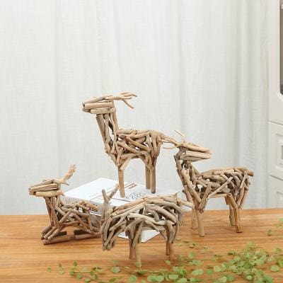 Deer Driftwood Figurine - The Set