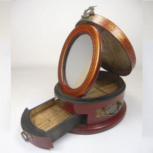 Delicate Antique Jewelry Box with Mirror