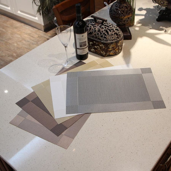 Diagonal Frame Pvc Dinner Mat - 3 Piece