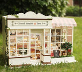 Diy 3D Miniature Cupcake Store House Comes With Led & Furniture